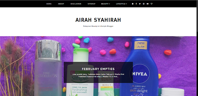 Review Blog : Airah Syahirah