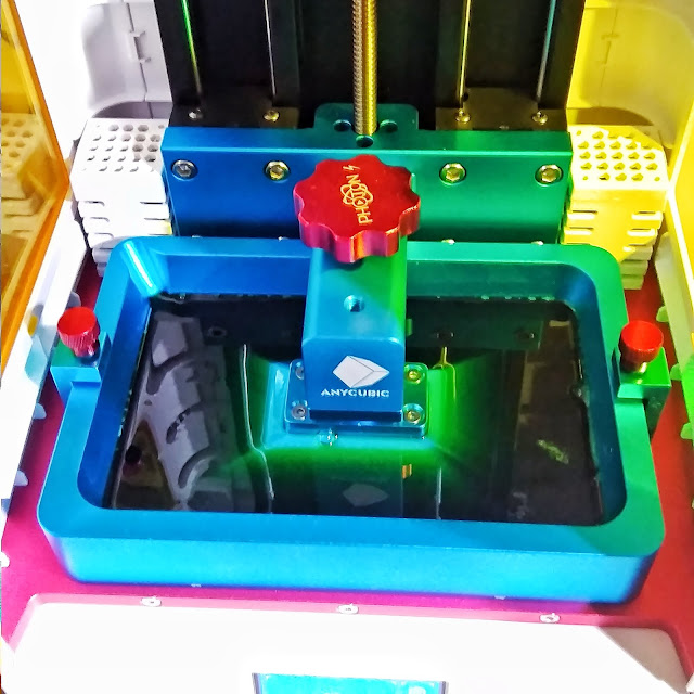 3D принтер Photon AnyCubic. Механизм печати в УФ компаунде