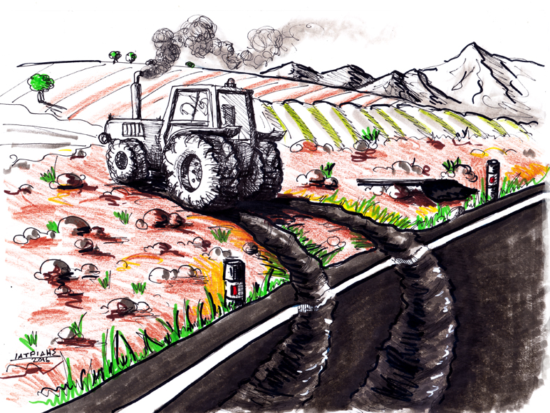 Από την άσφαλτο πίσω στο χωράφι