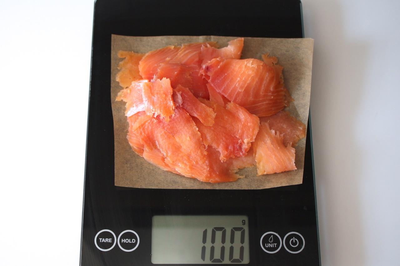 100 Grams of Smoked Salmon