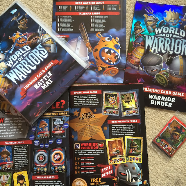 starter pack World of Warriors trading card game by Topps