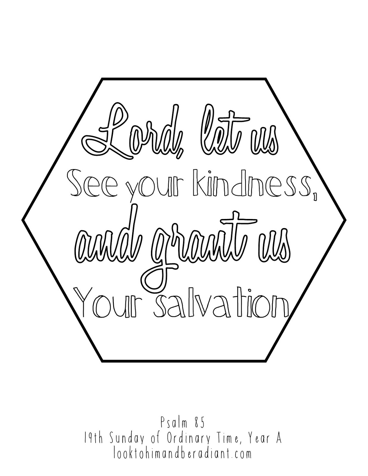 Click Here For The Full Size Psalm Coloring Pages August