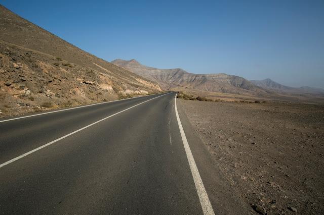 Strada per Puertito Los Molinos-Fuerteventura
