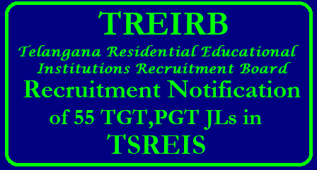 GO No 66 Filling up of 55 PGT TGT Posts in TSREIS by TREI-RB - Get Details Telangana Residential Educational Institutions Recruitment Board TREI - RB 55 PGT TGT Posts Vacancies Details Public Services – Recruitment – School Education Department - Filling up of fifty five (55) vacant posts in Telangana State Residential Educational Institutions Society (TSREIS) through Direct Recruitment – Permission to the Telangana Residential Educational Institutions Recruitment Board (TREI-RB) – Orders – Issued. go-no-66-fiiling-up-of-55-pgt-tgt-posts-ts-gurukala-tsreis-by-Telangana-residential-Educational-institutions-recruitment-board/2018/05/go-no-66-fiiling-up-of-55-pgt-tgt-posts-ts-gurukala-tsreis-by-Telangana-residential-Educational-institutions-recruitment-board-treirb-get-details.html