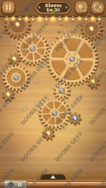 Fix it: Gear Puzzle [Gloves] Level 36 Solution, Cheats, Walkthrough for Android, iPhone, iPad and iPod