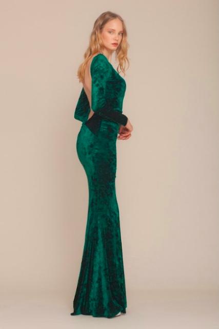 keikei uzun kollu elbise modelleri