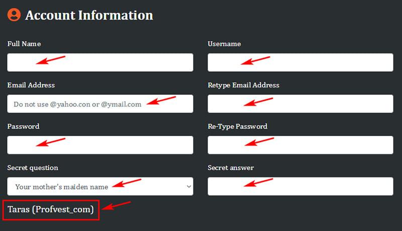 Регистрация в Cryptoverdrive 2