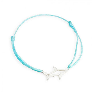 Shadow Shark Friendship Bracelet- Sterling Silver - Daisy London - Jewellery Blog