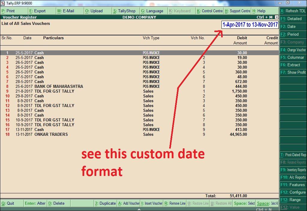 Tally Custom Date Format tdl - Tally Tdl Expert