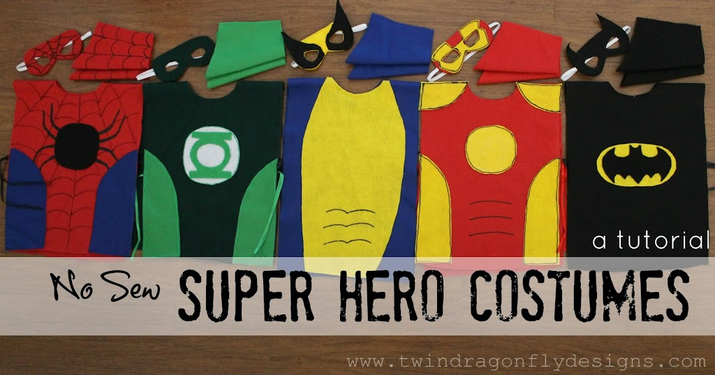 http://www.twindragonflydesigns.com/no-sew-super-hero-costumes-tutorial/