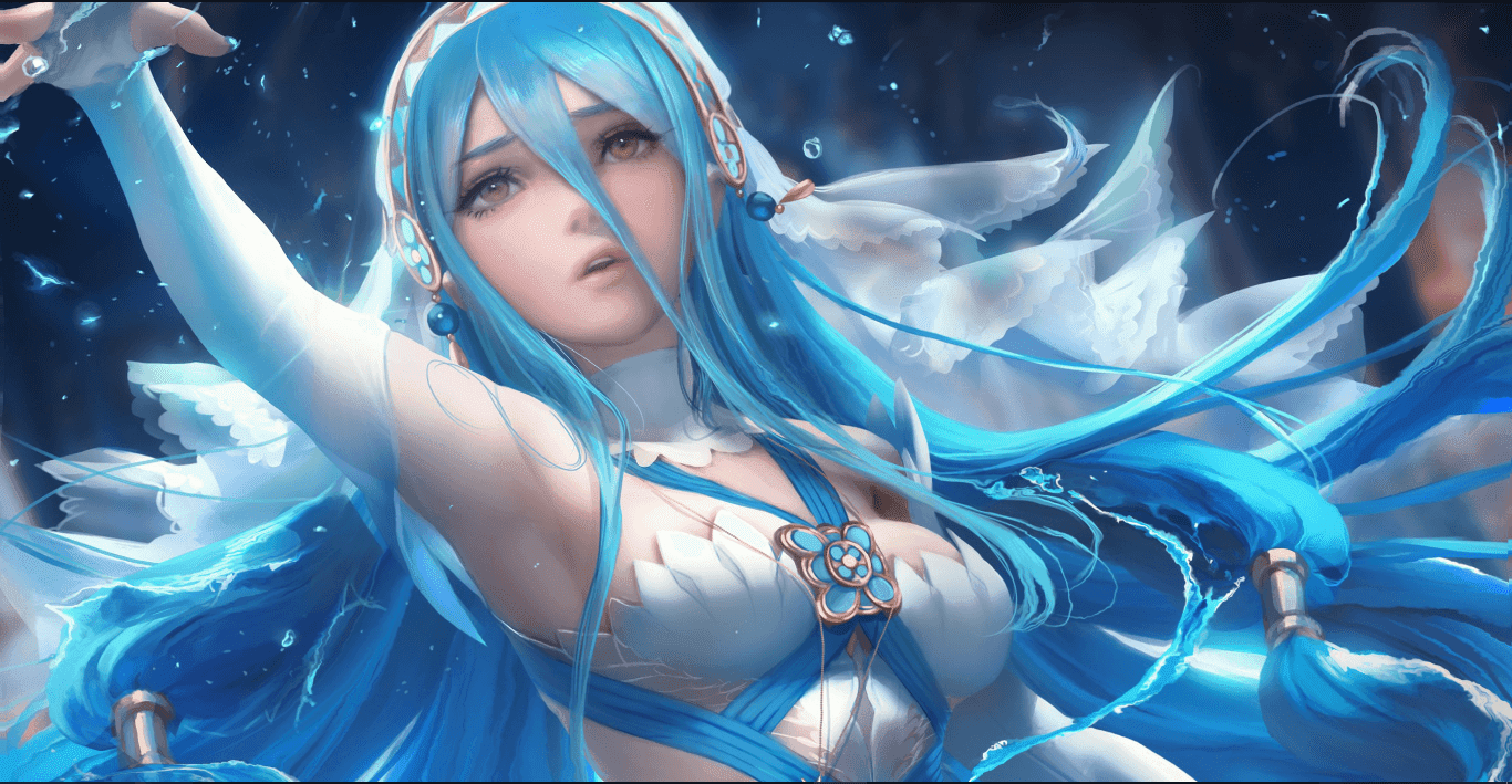Azura - Fire Emblem - Art by SakimiChan [Wallpaper Engine Anime]