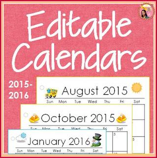 Blank Calendar months 2016