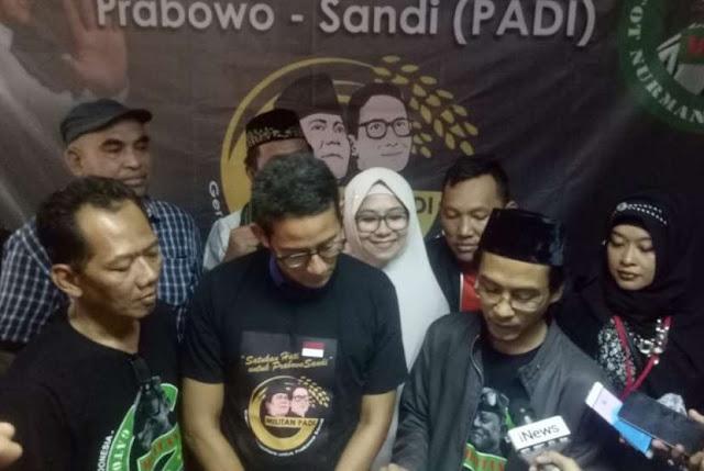 Relawan Gatot Nurmantyo Merapat ke Kubu Prabowo-Sandi