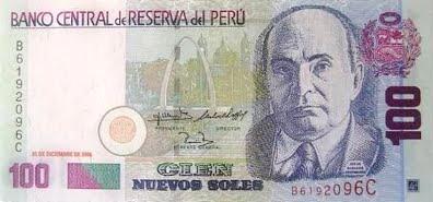 Dibujo de Jorge Basadre en billete peruano