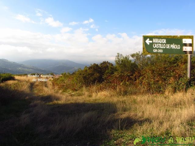 Desvío al Mirador del Castillo de Piñolo