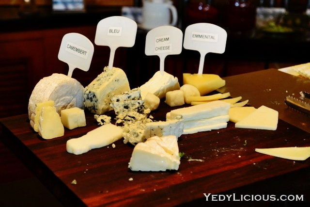 Imported and Local Cheese at the Buffet of Pan Pacific Manla
