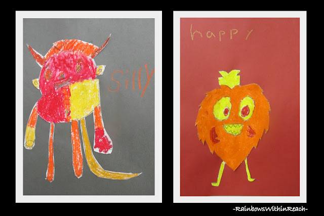 photo of: Monsters with Emotions in Third Grade via RainbowsWIthinReach