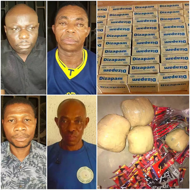 3 clearing agents and one exporter nabbed with illicit drugs worth N222m