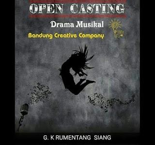 info open casting audisi pemain drama musikal di bandung