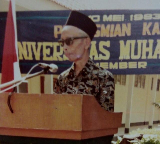 KH. Ahmad Zainuri tokoh Muhammadiyah Jember