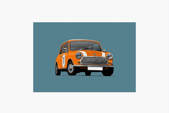 Morris Mini - Austin Mini - print - home decor