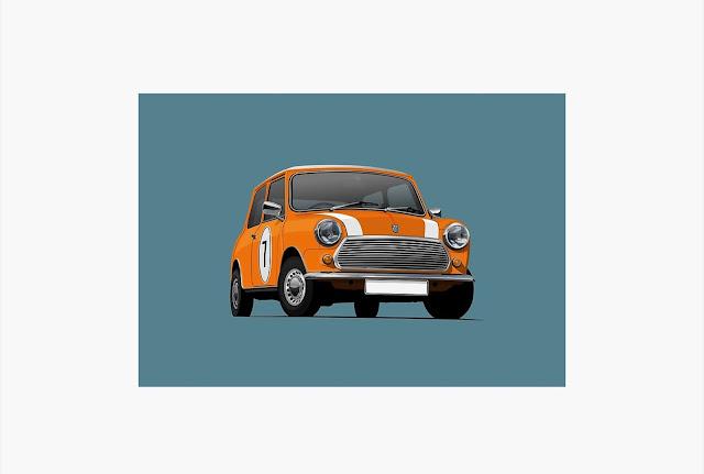 Morris Mini - Austin Mini - print - home decor