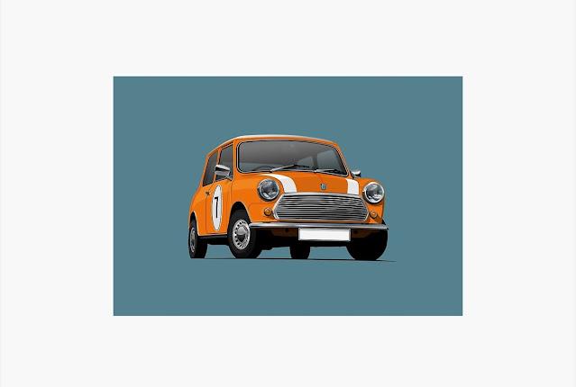 Morris Mini - Austin Mini Cooper - print - home decor