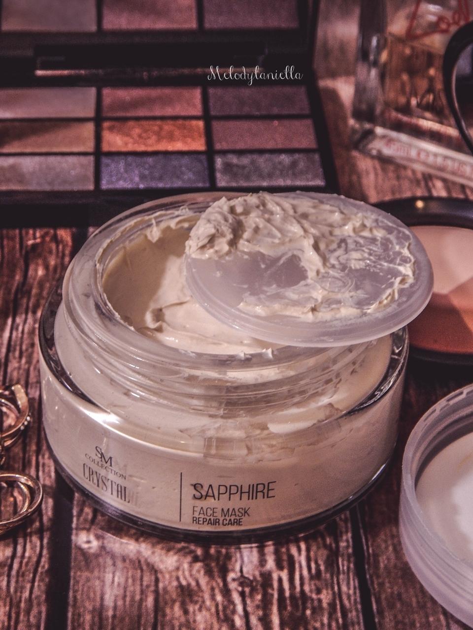 5 sm collection crystal sapphire face mask repair care maseczka szafirowa hristina do twarzy maseczki do tłustej świecącej się skóry słonnej do wyprysków maseczka matująca opinia recenzja jak działa blog beauty łódź