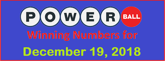 PowerBall Winning Numbers for Wednesday, 19 December 2018