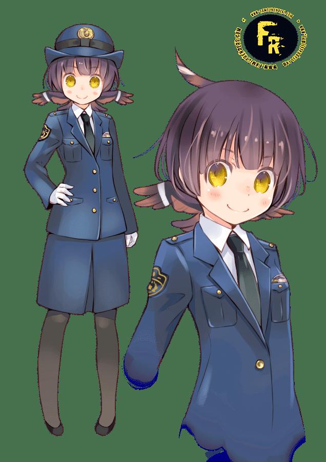 render POLICXE GIRL