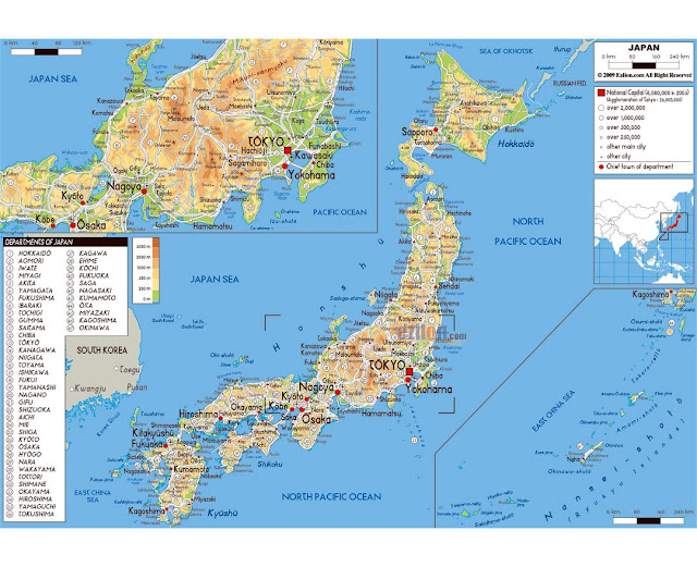 Detailed Map of Japan