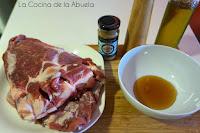 Costillas cerdo salsa mostaza miel receta horno asado ingredientes