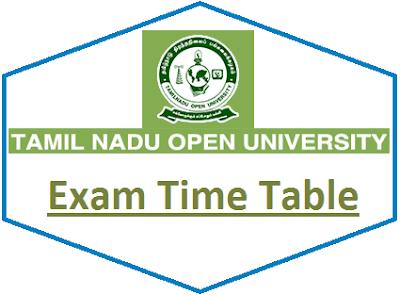 TNOU Term End Exam Time Table June 2020