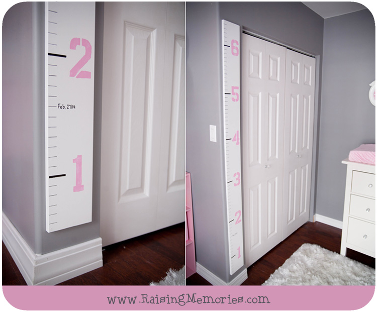 How to Make Your Own Ruler Height Chart by www.RaisingMemories.com