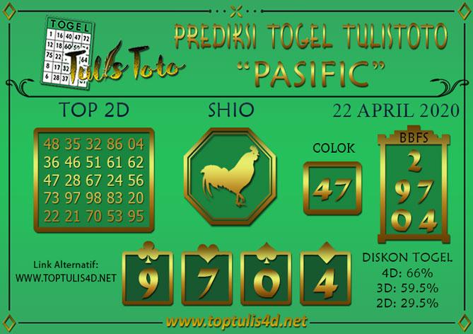Prediksi Togel PASIFIC TULISTOTO 22 APRIL 2020