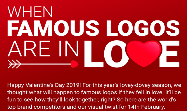 Brand Rivals in Love: How Famous Logos Will Look This Valentine's Day