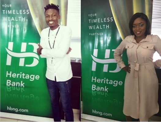 #BBNaija: Efe, Bisola & Tboss spotted at Heritage Bank HQ (Photos)