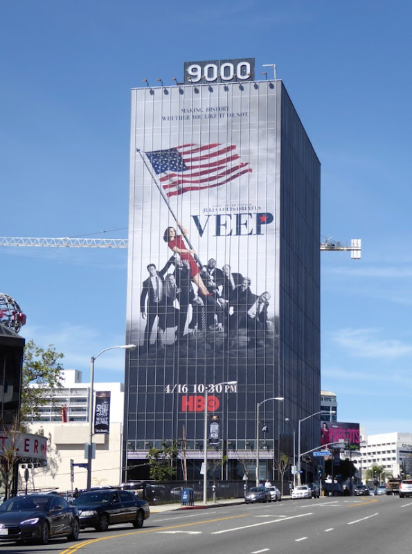 Giant Veep season 6 billboard
