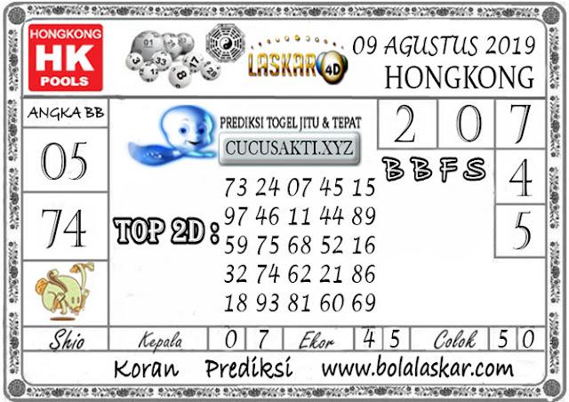 Prediksi Togel HONGKONG LASKAR4D 09 AGUSTUS 2019