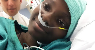 Black teen with leukemia