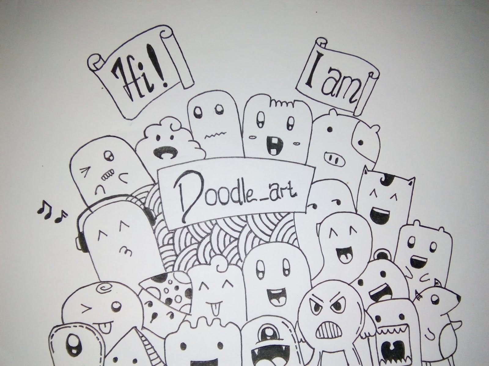 Contoh Gambar Doodle Art Sederhana Kantor Meme