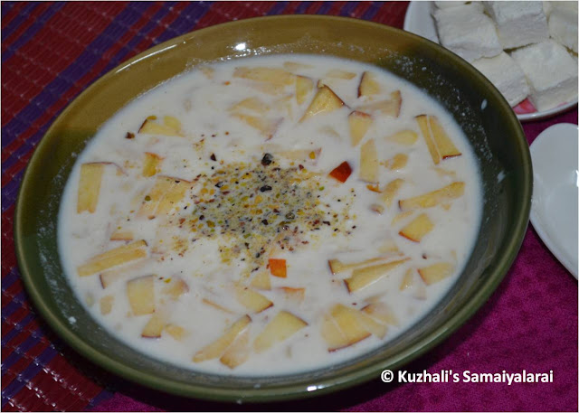 PANEER APPLE KHEER RECIPE - EASY PANEER PAAYASAM WITH APPLES - EASY PANEER & APPLE DESSERT