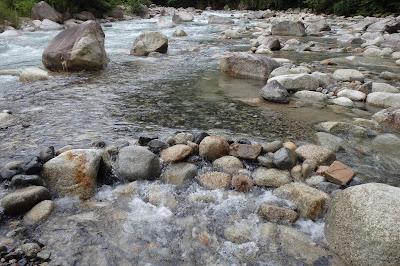 中津川上流で川遊び