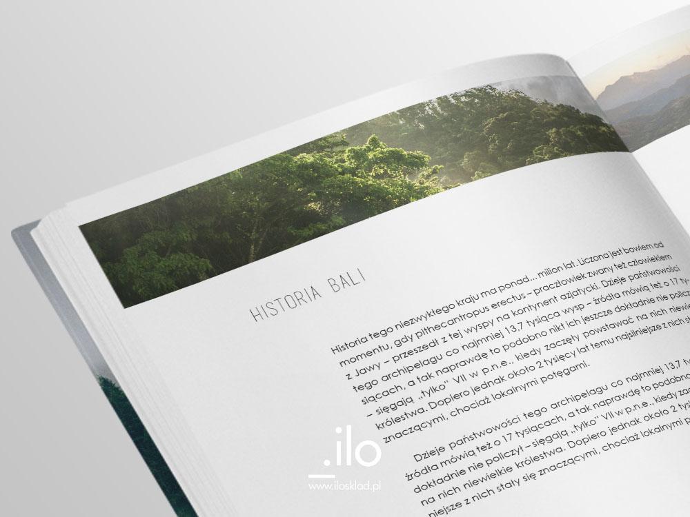 Rozkładówka zaprojektowanej książki