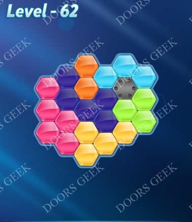 Block! Hexa Puzzle [Intermediate] Level 62 Solution, Cheats, Walkthrough for android, iphone, ipad, ipod