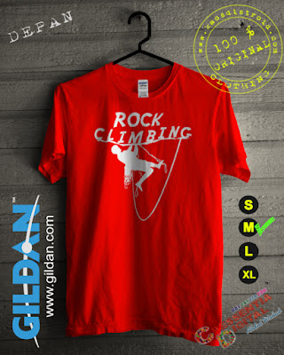 Baju Kaos Distro Rock Climbing Warna Orange