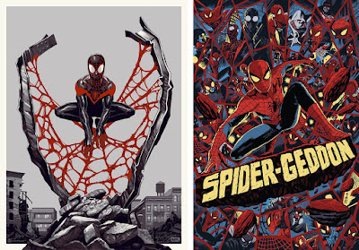 Mondo – Spider-Man: Miles Morales Screen Print by Phantom City Creative & Spider-Geddon Screen Print by Francesco Francavilla
