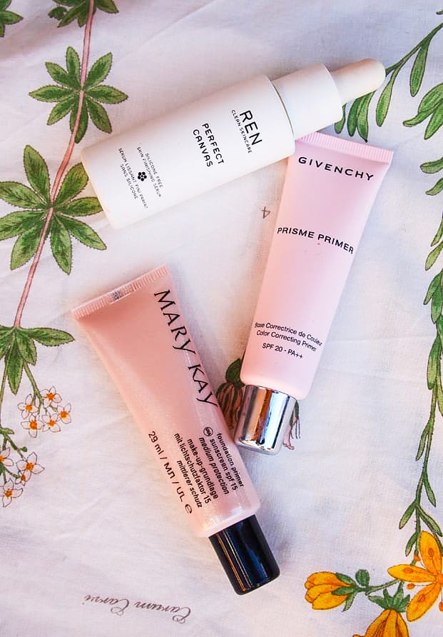 Primers REN Perfect Canvas, Mary Kay, Prisme Primer Givenchy