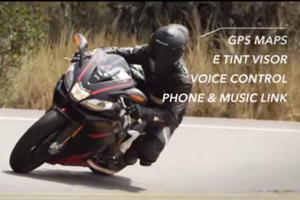 AR-1 擁有 GPS 導航、音控等功能,數位時代翻攝自 Skully 官網