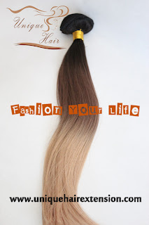 ombre/balayage virgin clip hair extensions